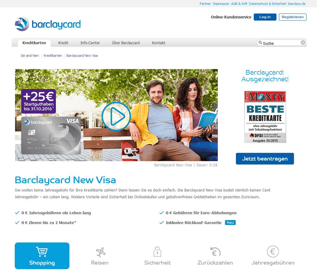 Girokonto Comdirect Dkb Und Norisbank Im Vergleich: Barclaycard New Visa
